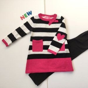 ⭐️NWT⭐️Sweet Striped Sweater & Leggings Outfit 3T